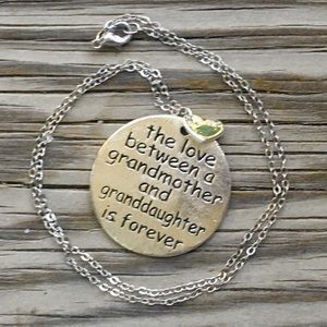 Jewelry - Grandmother + granddaughter love forever necklace